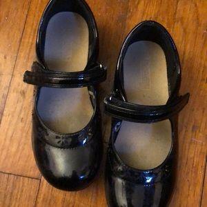 Girls size 12 black dress shoes